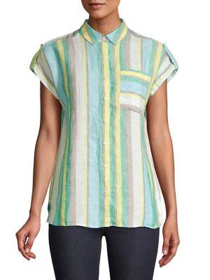 6832e85c2edda8 QUICK VIEW. Lord   Taylor. Striped Linen Button-Down Shirt