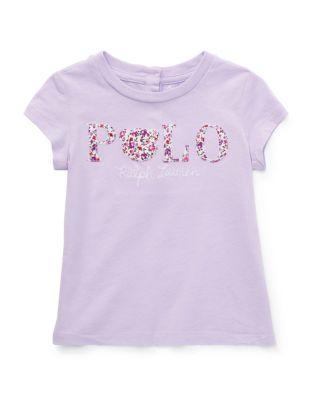 d3c5ed41bfba Ralph Lauren Childrenswear. 623 Items. T-shirt en jersey de coton Polo à  motif floral pour bébé fille