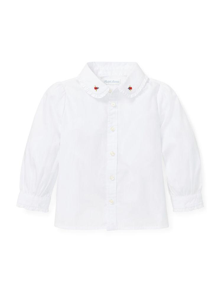 Ralph Lauren Childrenswear - Haut en coton à volants pour bébé fille ... d46b3fc34583