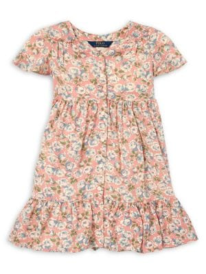 a4c35e07d QUICK VIEW. Ralph Lauren Childrenswear. Little Girl's Challis Floral Short  Sleeve Dress