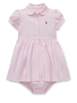 a79779dd7 QUICK VIEW. Ralph Lauren Childrenswear. Baby Girl s Two-Piece Striped  Oxford Shirtdress   Bloomers Set.  45.00 Now  31.50