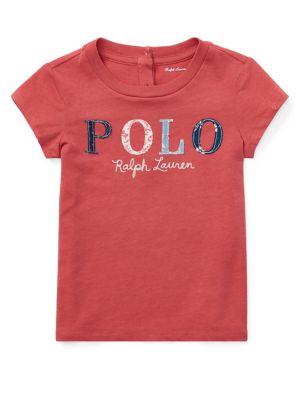 4194b5d448ff Polo en jersey fleuri pour bébé fille. Ralph Lauren Childrenswear