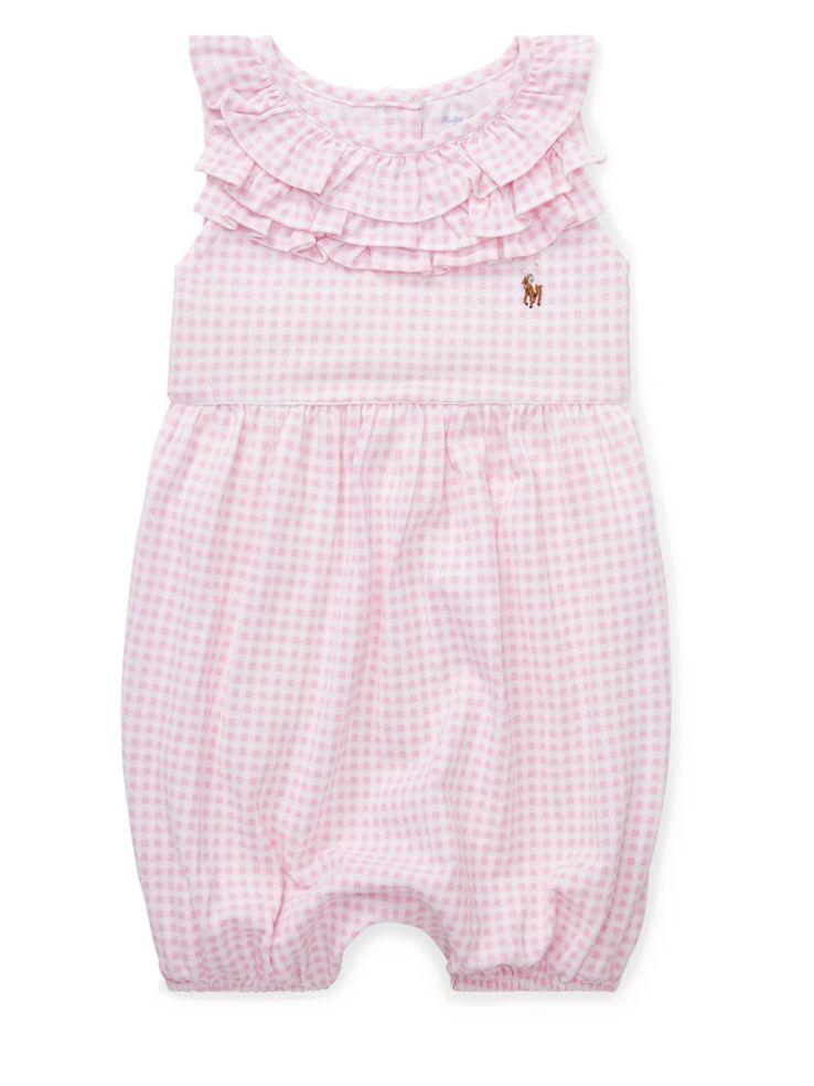 7b82004c4b13e Ralph Lauren Childrenswear - Baby Girl s Ruffled Gingham-Print ...