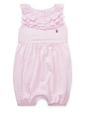 5650723ee Product image. QUICK VIEW. Ralph Lauren Childrenswear. Baby Girl's Ruffled  Gingham-Print Cotton Romper