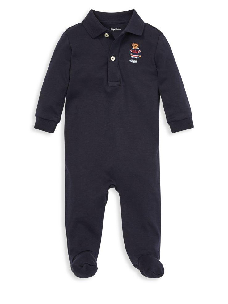 c3ba1855bff9b Ralph Lauren Childrenswear - Baby Boy s Polo Bear Cotton Coverall ...