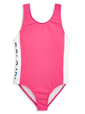 69ce4d1c88 QUICK VIEW. Ralph Lauren Childrenswear. Littl'e Girl's One-Piece Graphic  Swimsuit