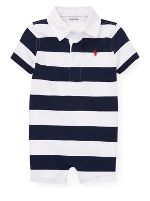2a7c617c8 Product image. QUICK VIEW. Ralph Lauren Childrenswear. Baby Boy's Striped  Cotton Rugby Shortalls. $32.50 Now $22.75