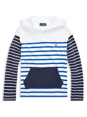 c30d47167 Product image. QUICK VIEW. Ralph Lauren Childrenswear. Little Boy's Striped  Cotton Hooded Tee