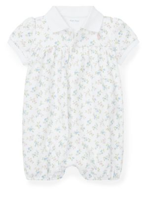 ee0c16a09 Product image. QUICK VIEW. Ralph Lauren Childrenswear. Baby Girl's Floral- Print Cotton Interlock Shortalls