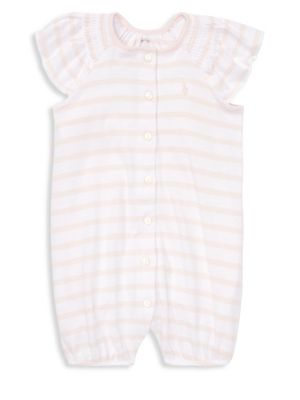 e9f145d24 Product image. QUICK VIEW. Ralph Lauren Childrenswear. Baby Girl's Striped  Cotton Shortalls. $39.50 Now $13.82