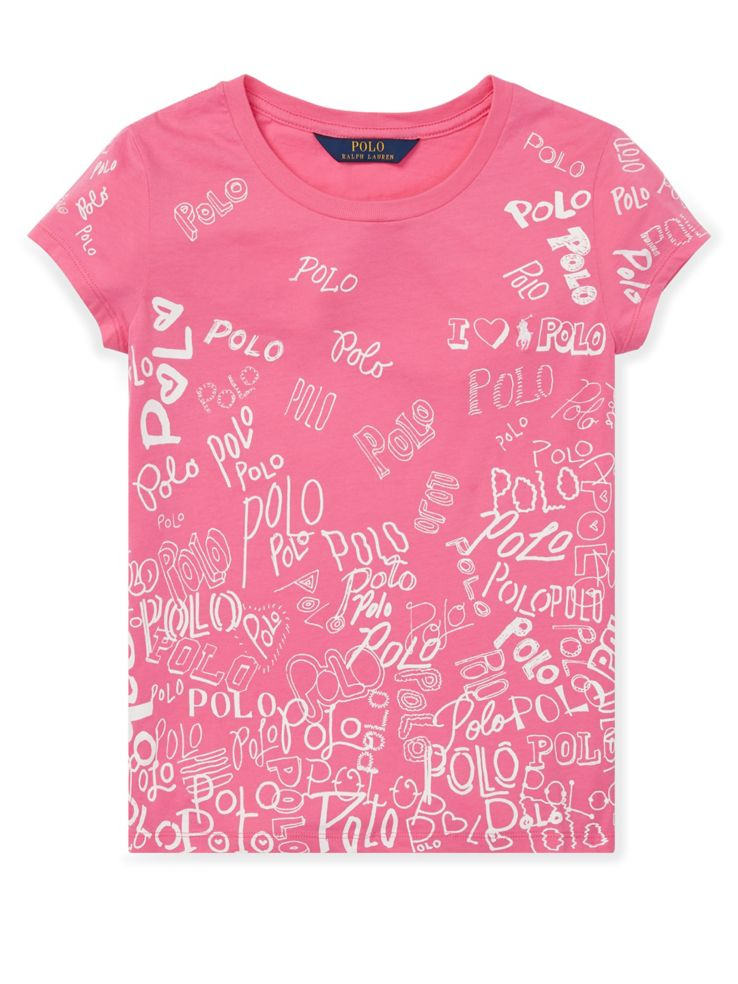 827edbe3d4 Ralph Lauren Childrenswear Girl's Polo Cotton Jersey Graphic Tee