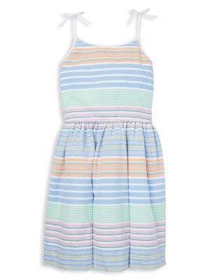 5418ef77a QUICK VIEW. Ralph Lauren Childrenswear. Girl s Striped Cotton Fit- -Flare  Dress