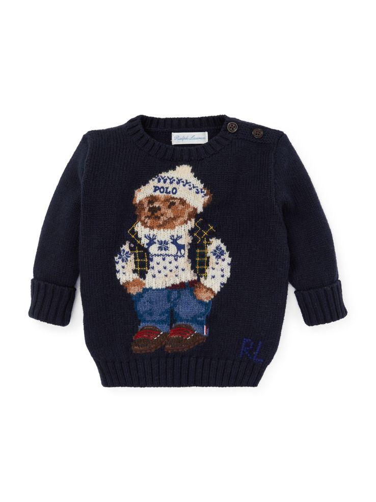 e1ce5dd6bb95 Ralph Lauren Childrenswear - Baby Boy s Polo Bear Cotton Sweater ...