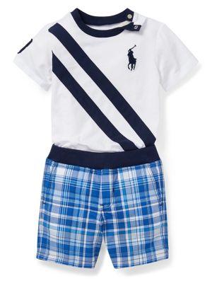 24291c548 QUICK VIEW. Ralph Lauren Childrenswear. Baby s Cotton Tee   Reversible Shorts  2-Piece Set