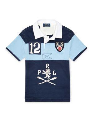 a53e02615 Product image. QUICK VIEW. Ralph Lauren Childrenswear. Little Boy's Cotton  Jersey Rugby Shirt. $55.00 Now $38.50 · Little Boy's Striped Cotton Jersey  Tee ...