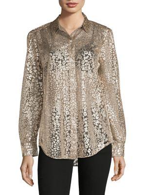 d13edcb0d01 Equipment. Classic Button-Down Shirt.  300.00 Now  120.00. designer ·  Metallic Leopard Shirt Metallic Gold. QUICK VIEW. Product image