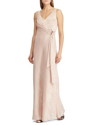 017ebf12e693 Product image. QUICK VIEW. Lauren Ralph Lauren. Slim Fit Metallic Jacquard  Sleeveless Gown