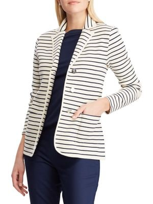 cd6958a362f29 QUICK VIEW. Chaps. Petite Stripe Knitted Blazer