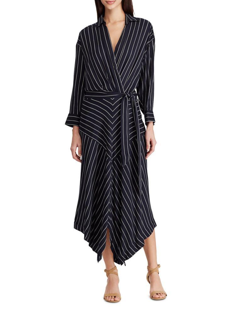 0920e39eff6 Lauren Ralph Lauren - Striped Twill Shirtdress - thebay.com