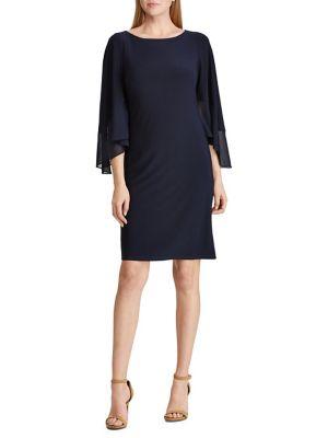 2c435e677d Product image. QUICK VIEW. Lauren Ralph Lauren. Tiered Sleeve Jersey Dress