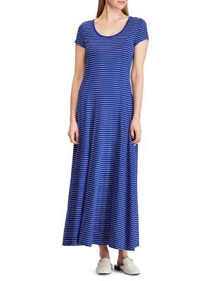 627661be8b20d Striped Cotton Blend Maxi Dress BLUE. QUICK VIEW. Product image. QUICK  VIEW. Lauren Ralph Lauren
