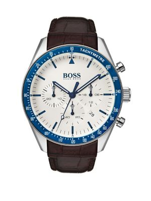 3063a077c Product image. QUICK VIEW. HUGO BOSS. Trophy 1513629 Leather Strap  Chronograph Watch. $395.00 · Grand Prix 1513604 Leather Strap ...