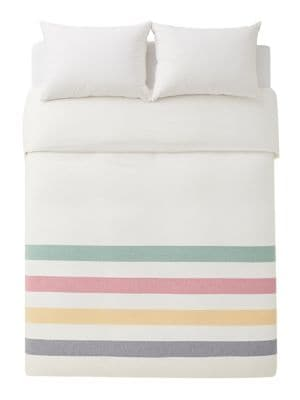 Hbc Stripes Multi Stripe Flannel Duvet Cover Thebay Com