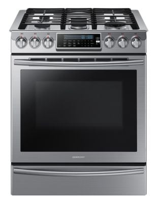 NX58H9500WS/AC 5-Burner 5.8 cu. ft. Steam Slide-In Convection Gas Range (Stainless Steel) photo