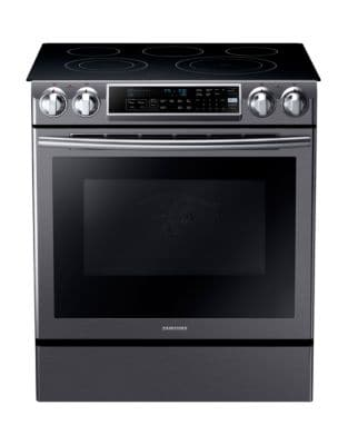 NE58K9500SG/AC 5.8 cu. ft. Electric Range with Slide-In Design and Dual Convection- Black Stainless photo