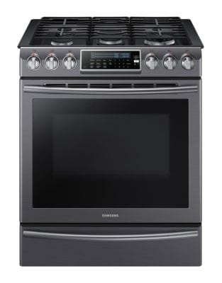NX58K9500WG/AC 5.8 cu. ft. Gas Range with 18K Dual Power Burner- Black Stainless photo