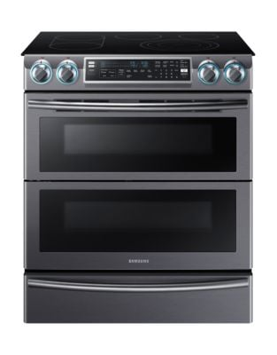 NE58K9850WG/AC 5.8 cu. ft. Electric Range with Flex Duo Oven System- Black Stainless photo
