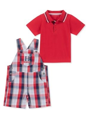 QUICK VIEW. Tommy Hilfiger. 2-Piece Baby Boy s Short Overalls Set bfe9c97d40f9