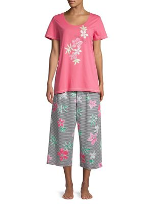37daa7e47c Product image. QUICK VIEW. Hue. 2-Piece Tropical Rose Pyjama Set