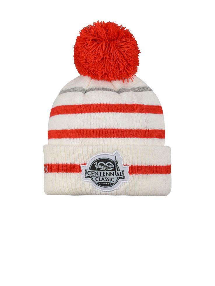 66e40e9f Reebok - NHL Detroit Red Wings Centennial Classic Cuffed Pom Knit ...