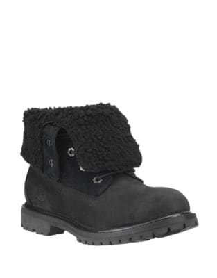 timberland authentics teddy fleece waterproof fold down ankle bottes