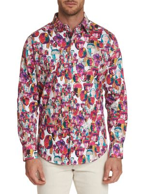 af26d4f2bed QUICK VIEW. Robert Graham. Printed Long-Sleeve Button-Down Shirt