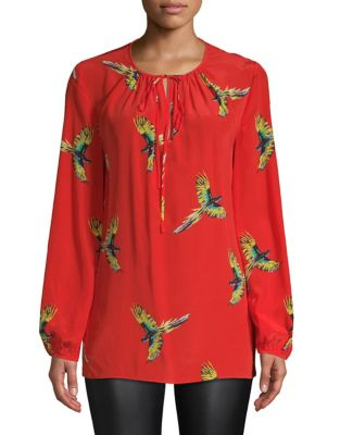 3c937b069260cb Long-Sleeve Keyhole Blouse Quincy Hunter. QUICK VIEW. Product image. QUICK  VIEW. Diane Von Furstenberg