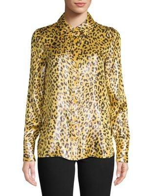 3ccda8af060b6 QUICK VIEW. Diane Von Furstenberg. Animal-Print Long-Sleeve Top