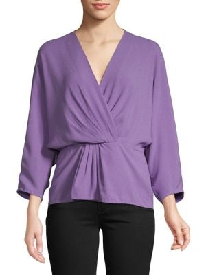3cece3385b010 QUICK VIEW. Diane Von Furstenberg. Pleated Long-Sleeve Blouse