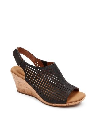 0a5f0fd83 QUICK VIEW. Rockport. Briah Perforated Leather Wedge Sandals
