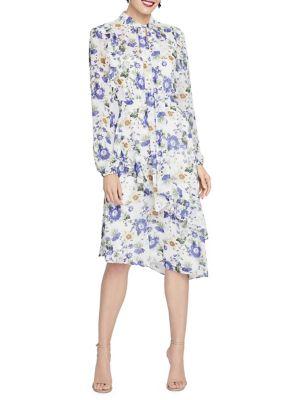 d88abbeea3a QUICK VIEW. Rachel Rachel Roy. Victorian Tie Neck Floral Ruffle Midi Dress