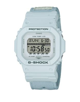 Casio Digital G Lide Cloth White Stainless Steel Strap Watch
