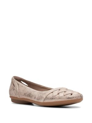 6657919cbcb9 QUICK VIEW. Collection By Clarks. Gracelin Maze Crisscross Suede Flats