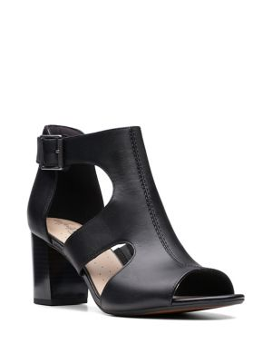 aedd36ceb4f9 Collection By Clarks - Deva Heidi Heeled Leather Sandals - thebay.com