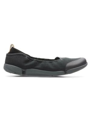 e46eff315ee Product image. QUICK VIEW. Clarks. Trigenic Tri Adapt Leather Ballet Flats