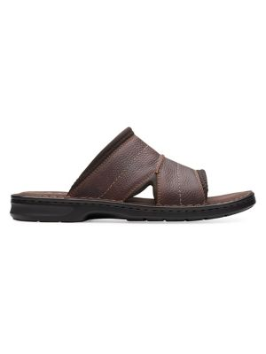 d28d5510bdf Malone Easy Leather Slides DARK BROWN. QUICK VIEW. Product image. QUICK  VIEW. Collection By Clarks