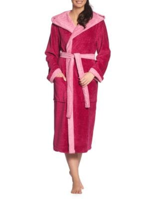 Hooded Poppy Robe PINK. QUICK VIEW. Product image 58b380692