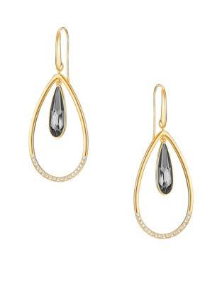 25cd4d61e27e Lisanne Crystal Orbital Drop Earrings GOLD. Product image