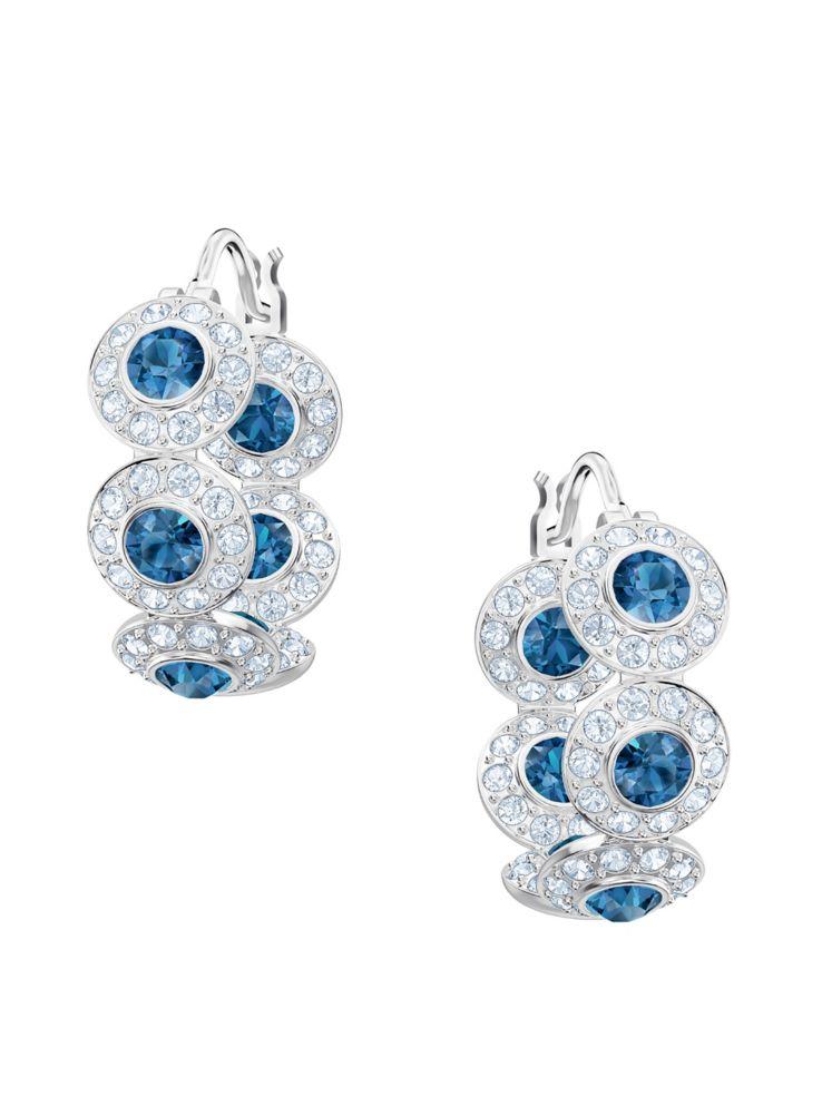 5e94bf510 Swarovski - Angelic Pierced Swarovski Crystal Hoop Earrings - thebay.com