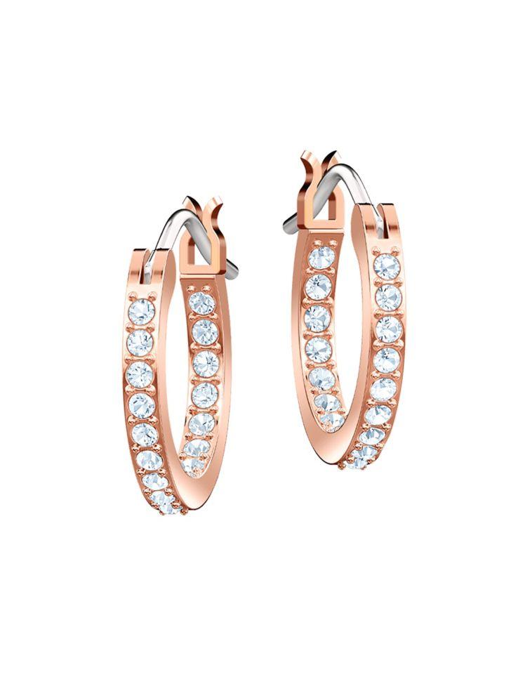 7248415d7 Swarovski - Swarovski Crystal Duo Moon Hoop Earrings - thebay.com